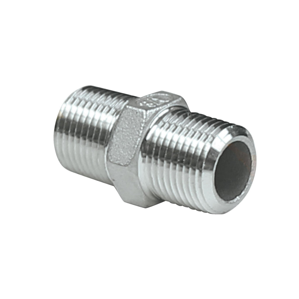 hex nipple pipe fittings bsp stainless steel