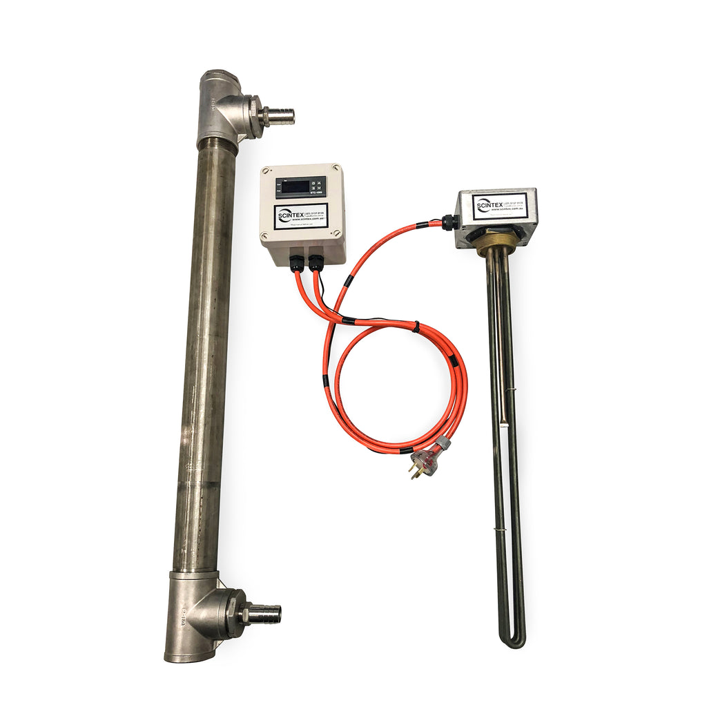 Inline Heating Element : In line heater with digital thermostat scintex australia