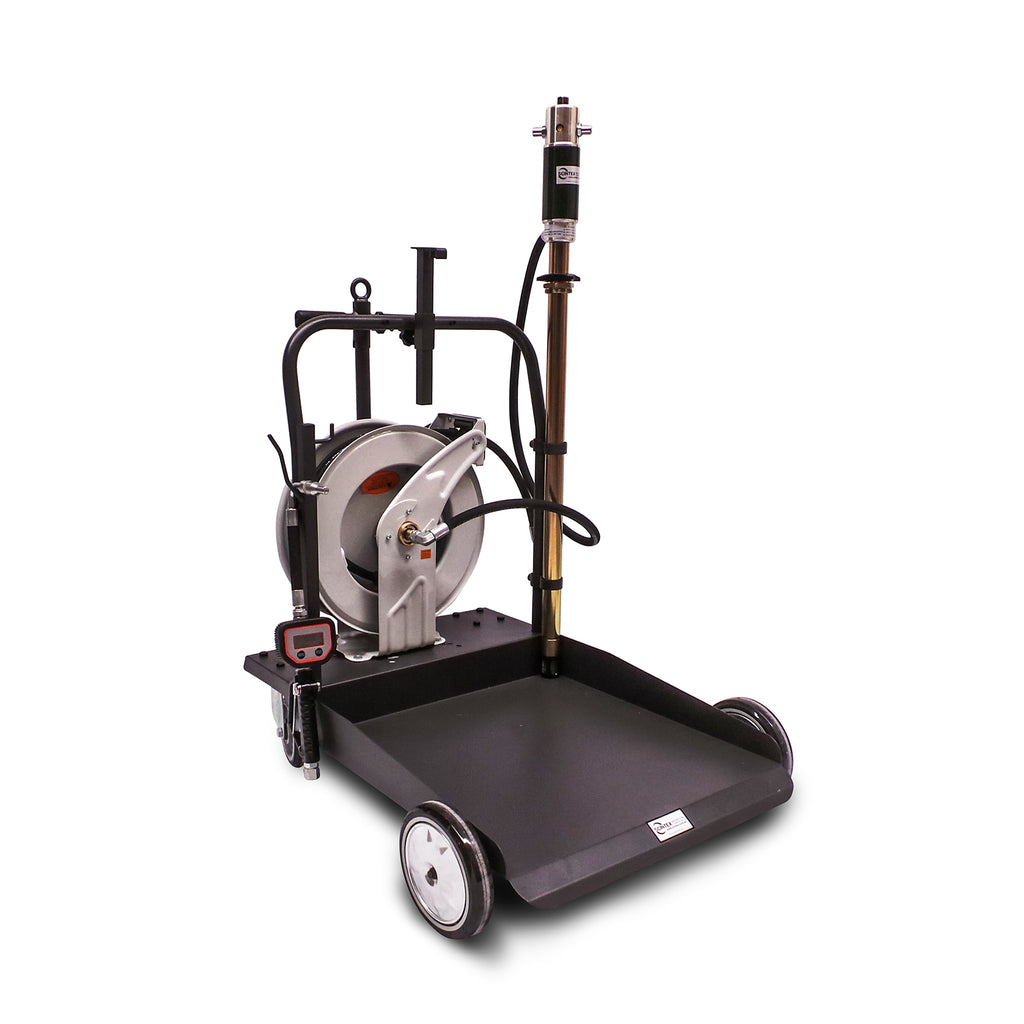 oil and lubricant pump drum trolley