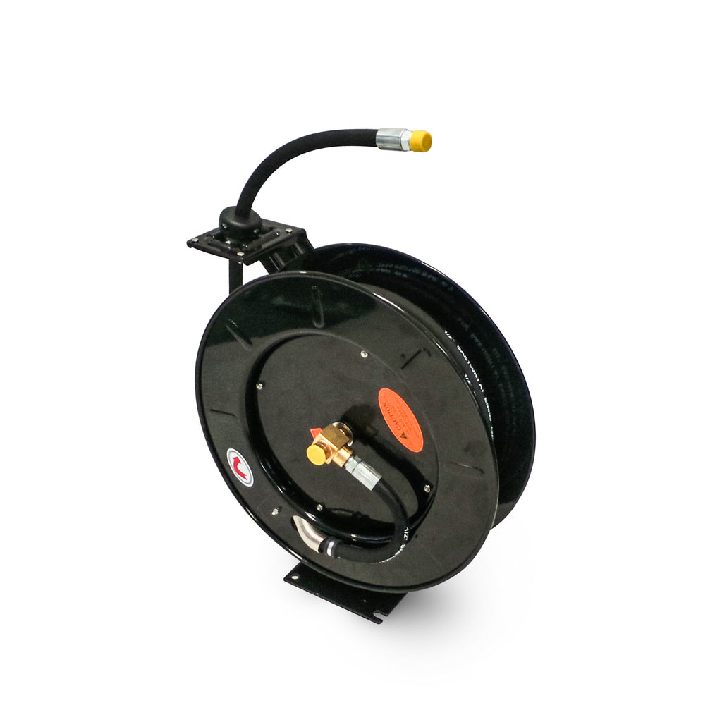 oil lubricant retractable hose reel