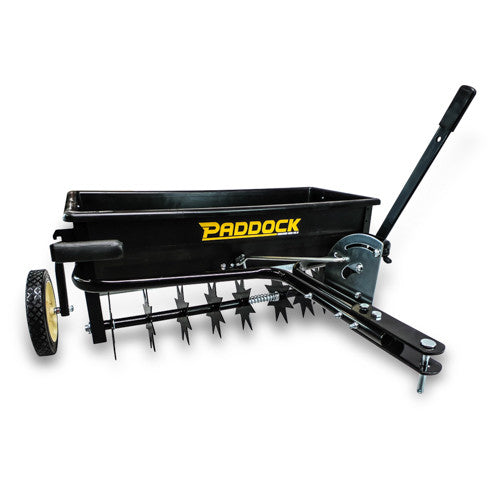 pull behind mower seeder spreader spike soil aerator