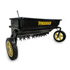 pull behind spike seeder for ride on mowers