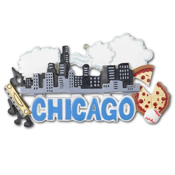 or400 chicago personalized christmas ornament - Chicago Christmas Ornament