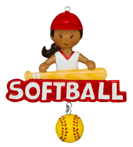 AA1240 - Softball Girl (African-American)
