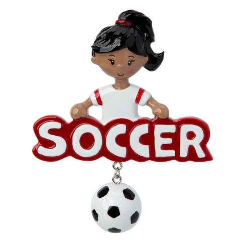 AA1244-G - Soccer Girll (African-American)