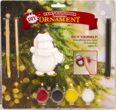 DIY1 - Do-It-Yourself Penguin Personalized Christmas Ornament
