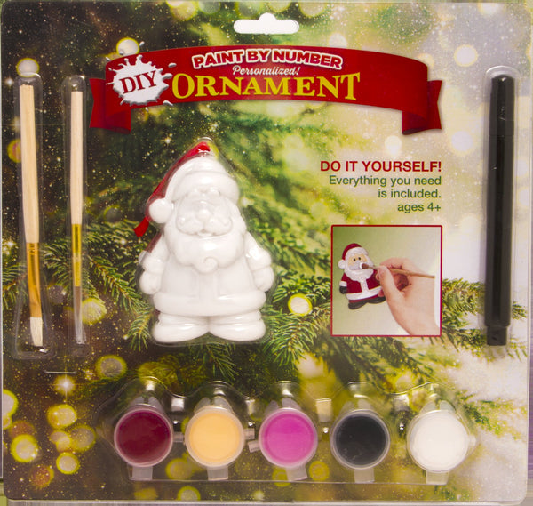 DIY2 - Do-It-Yourself Santa Personalized Christmas Ornament