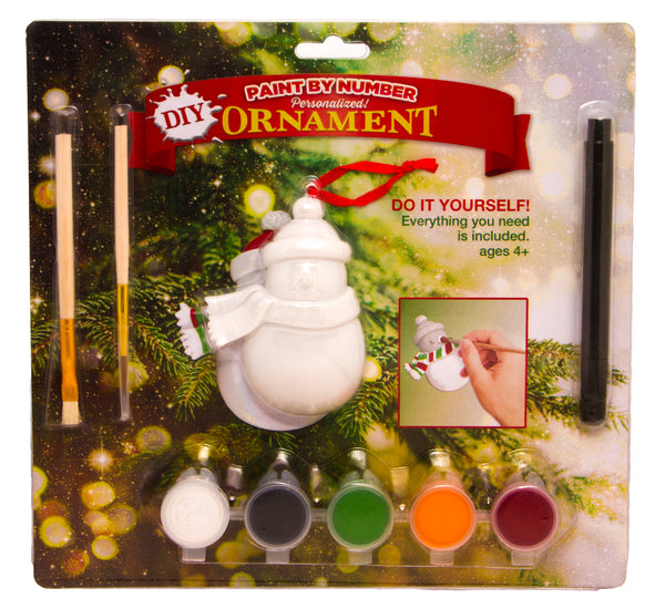 DIY4 - Do-It-Yourself Snowman Personalized Christmas Ornament