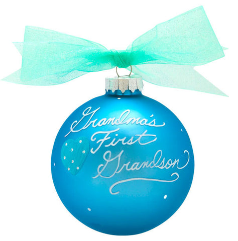 GB003-GS - 1st Grandson Glass Ball Christmas Ornament