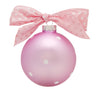 GB004-P - Baby Girl Feet Glass Ball Christmas Ornament