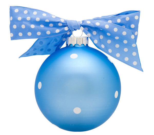 GB005-B - My 1st Christmas, Light Blue Glass Ball Christmas Ornament