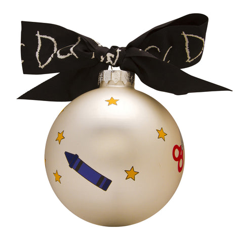 GB007 - 1st Day Of School Glass Ball Christmas Ornament