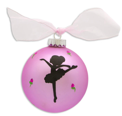 GB008 - Ballet Glass Ball Christmas Ornament