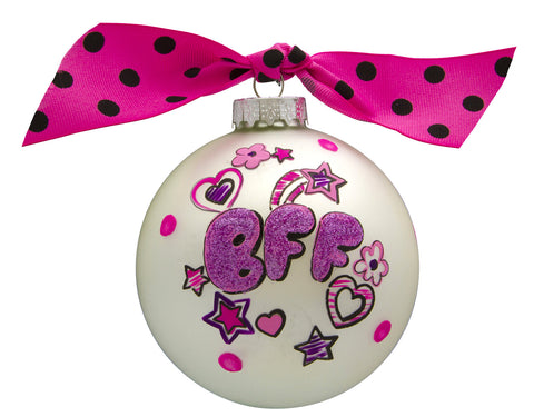 GB009 - BFF Glass Ball Christmas Ornament