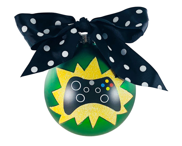 GB013 - Video Gamer Glass Ball Christmas Ornament