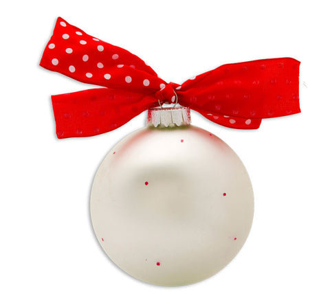 GB015 - Our 1st Christmas as Mr. & Mrs. Glass Ball Christmas Ornament