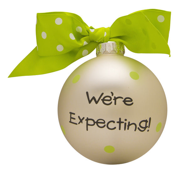 GB016 - We're Expecting! Glass Ball Christmas Ornament