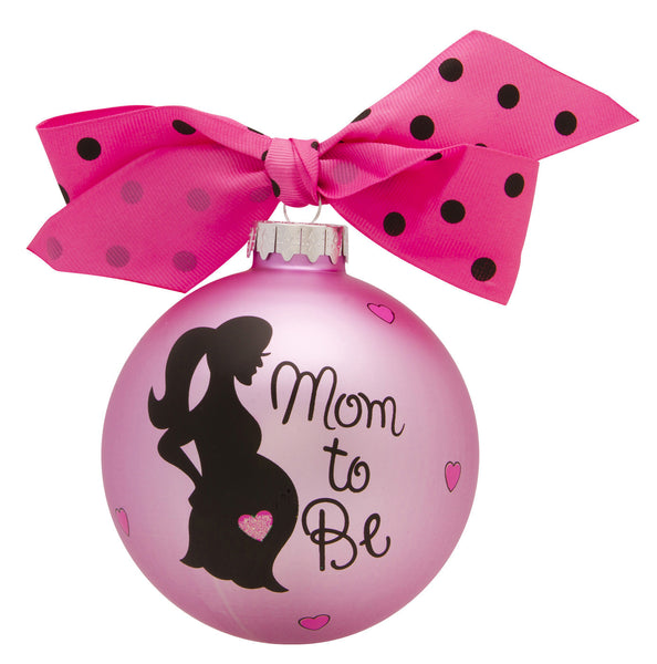 GB017 - Mom To Be Glass Ball Christmas Ornament