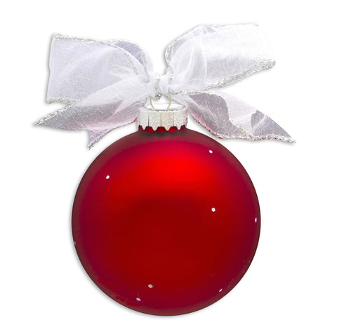 GB020 - #1 Dad Glass Ball Christmas Ornament