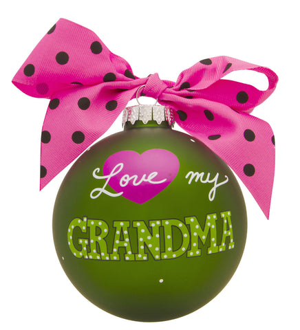 GB022 -Love My Grandma Glass Ball Christmas Ornament