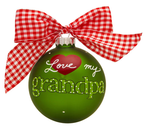 GB023 - Love My Grandpa Glass Ball Christmas Ornament