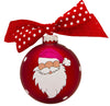 GB027 - Santa Ho Ho Ho! Glass Ball Christmas Ornament