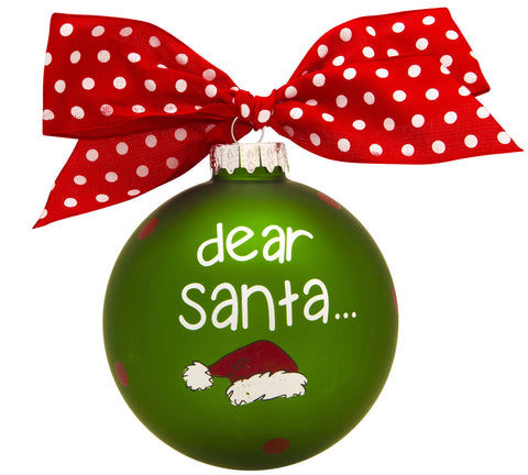 GB028 - Dear Santa, I Can Explain! Glass Ball Christmas Ornament