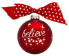 GB029 - Believe! Glass Ball Christmas Ornament