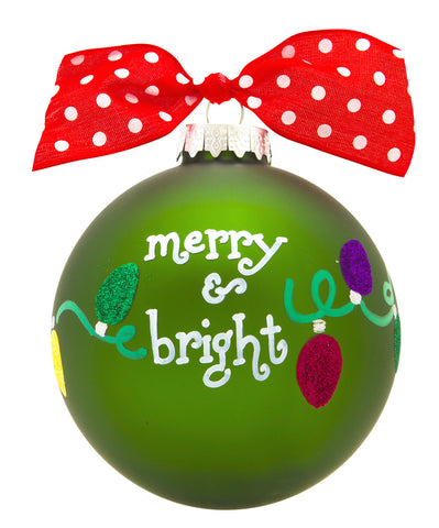 GB030 - Colored Lights Glass Ball Christmas Ornament