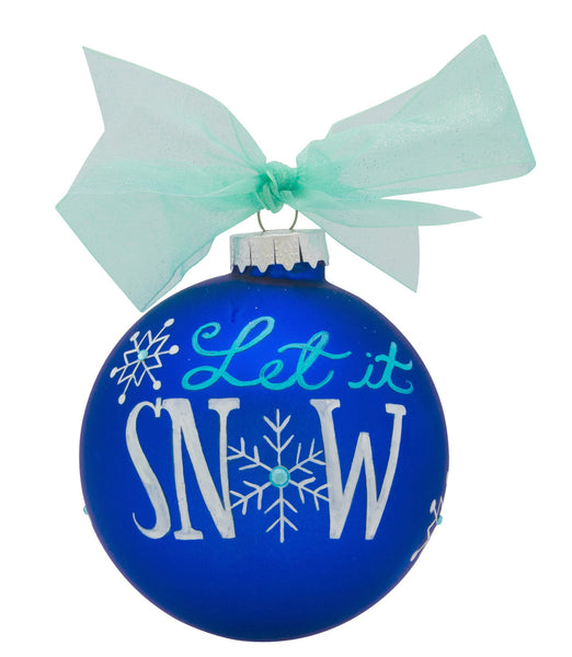 GB035 - Snowflakes Glass Ball Christmas Ornament