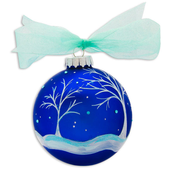 GB037 - Silent Night Glass Ball Christmas Ornament