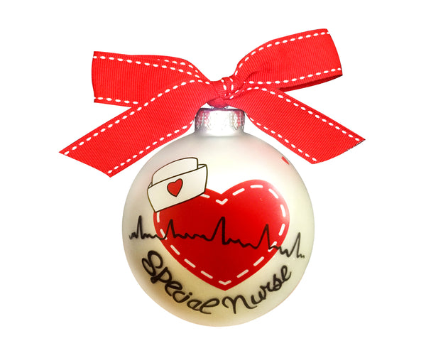 GB044 - Special Nurse Glass Ball Christmas Ornament