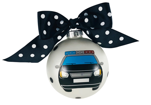 GB045 - Police Glass Ball Christmas Ornament
