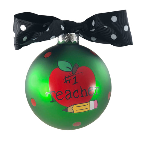 GB046 - Teacher Glass Ball Christmas Ornament