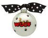 GB049 - Dog Woof Glass Ball Christmas Ornament