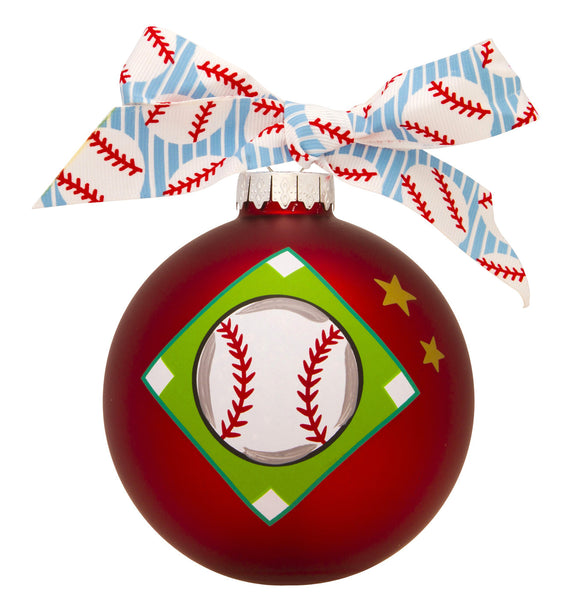 GB056 - Baseball Glass Ball Christmas Ornament
