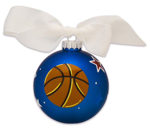 GB057 - Basketball Glass Ball Christmas Ornament