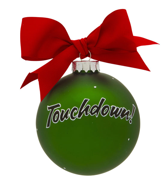 GB058 - Football Glass Ball Christmas Ornament