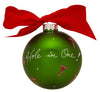 GB059 - Golf Glass Ball Christmas Ornament