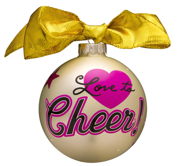 GB065 - Cheerleadeer Glass Ball Christmas Ornament