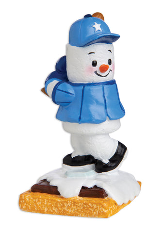 MM20001 - Marshmallow Baseball Player Personalized Christmas Ornament