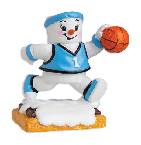 MM20002-G - Marshmallow Basketball Player (Girl) Personalized Christmas Ornament