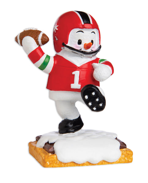 MM20003 - Marshmallow Football Player Personalized Christmas Ornament