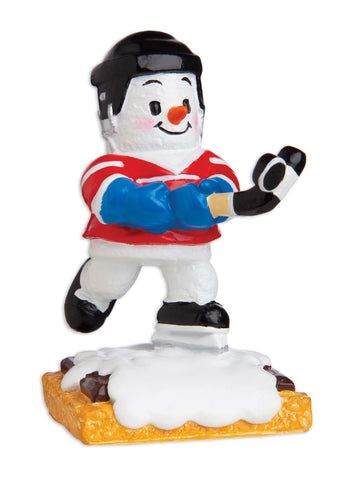 MM20004 - Marshmallow Hockey Player Personalized Christmas Ornament