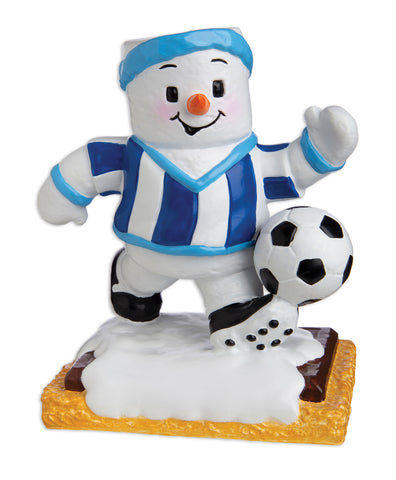 MM20005-B - Marshmallow Soccer Player (Boy) Personalized Christmas Ornament