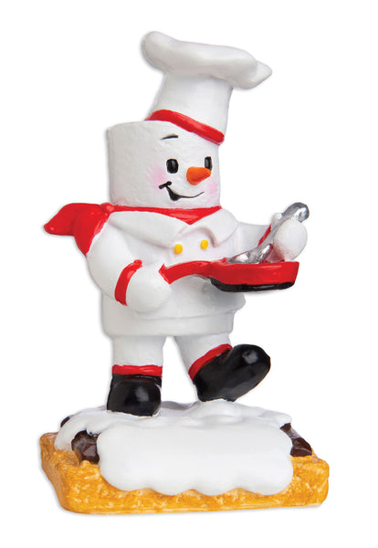 MM20006 - Marshmallow Chef Personalized Christmas Ornament