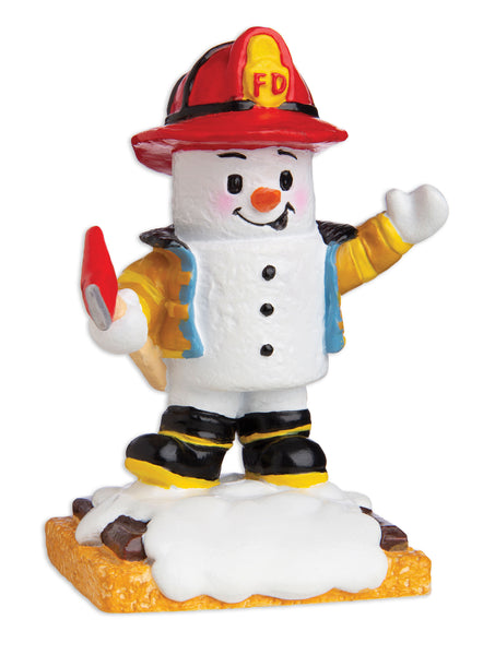 MM20007 - Marshmallow Fireman Personalized Christmas Ornament