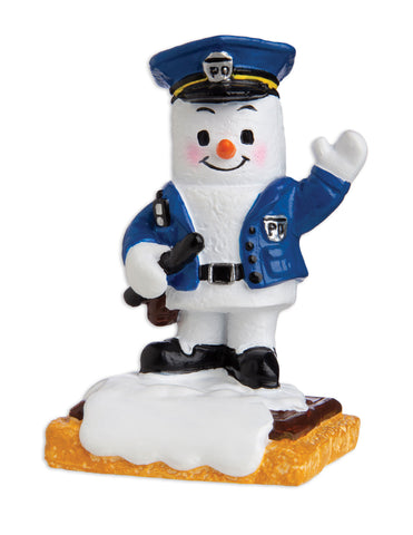 MM20008 - Marshmallow Policeman Personalized Christmas Ornament