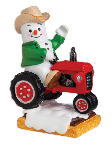 MM20010 - Marshmallow Farmer Personalized Christmas Ornament