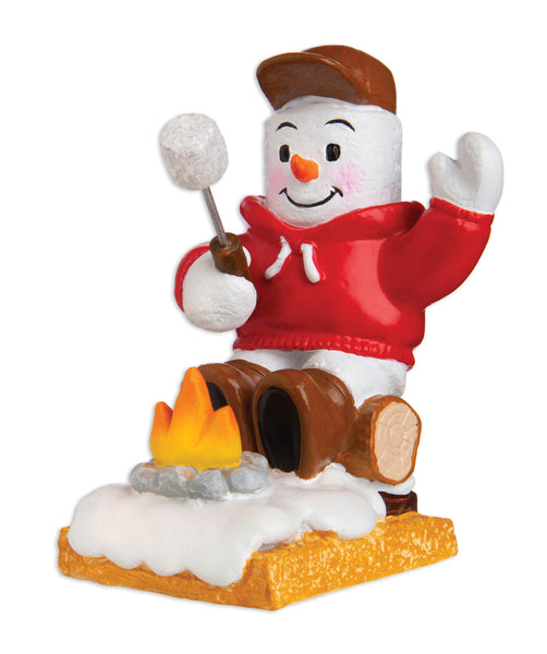 MM20013 - Marshmallow Camper Personalized Christmas Ornament